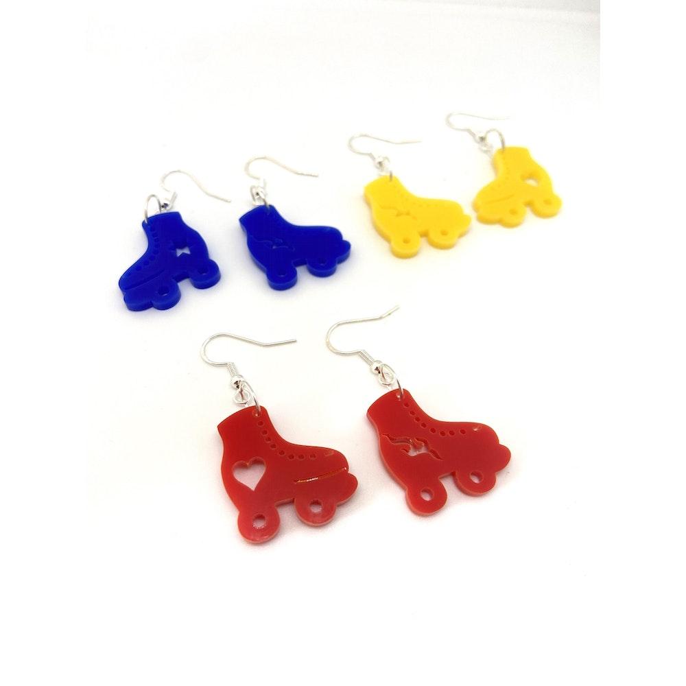 One of a Kind Club Roller Skate Acrylic Earrings