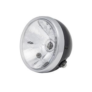 Cafe Racer Black/Chrome Headlight