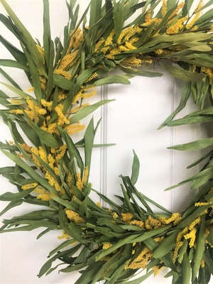 Bambole Designs WATTLE WREATH, All Year Wreath, CENTRE PIECE, Dried Wattle Wreath, Rustic Wreath, Christmas, Gift Idea 2021