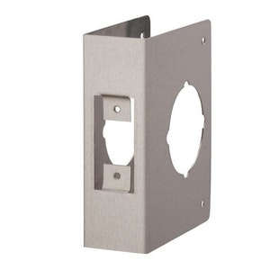 BDS Stainless Steel Deadbolt Wrap Around Cover - Lock Reinforcing Scar Plate - 60mm Backset