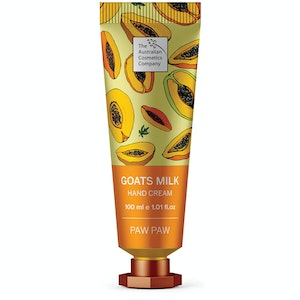 The Australian Cosmetics Company Goats Milk Hand Cream Paw Paw 100ml
