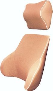 Memory Foam Lumbar Back & Neck Pillow Support Cushion | Peach