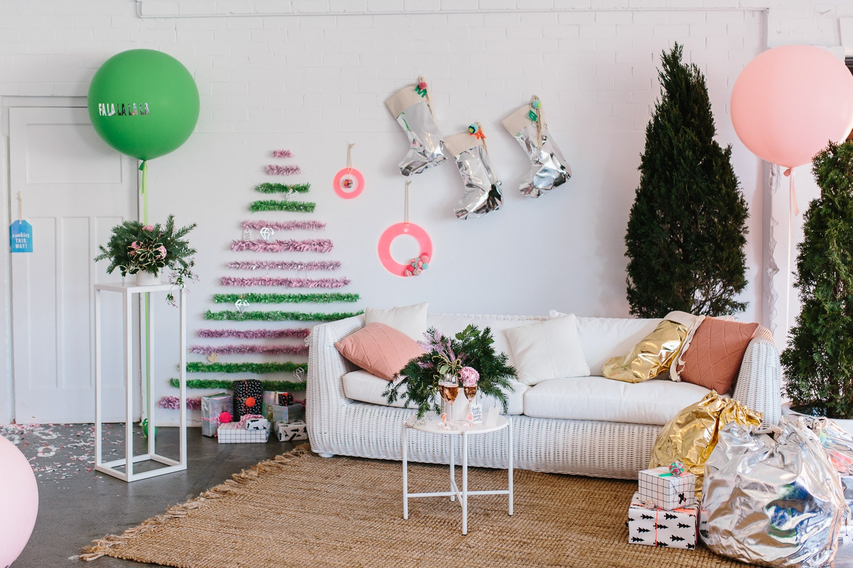Tinsel Christmas Tree DIY