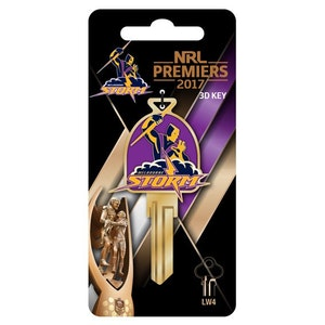 Creative Keys NRL Premiership Team 2017 Melbourne Storm Key Blank LW4