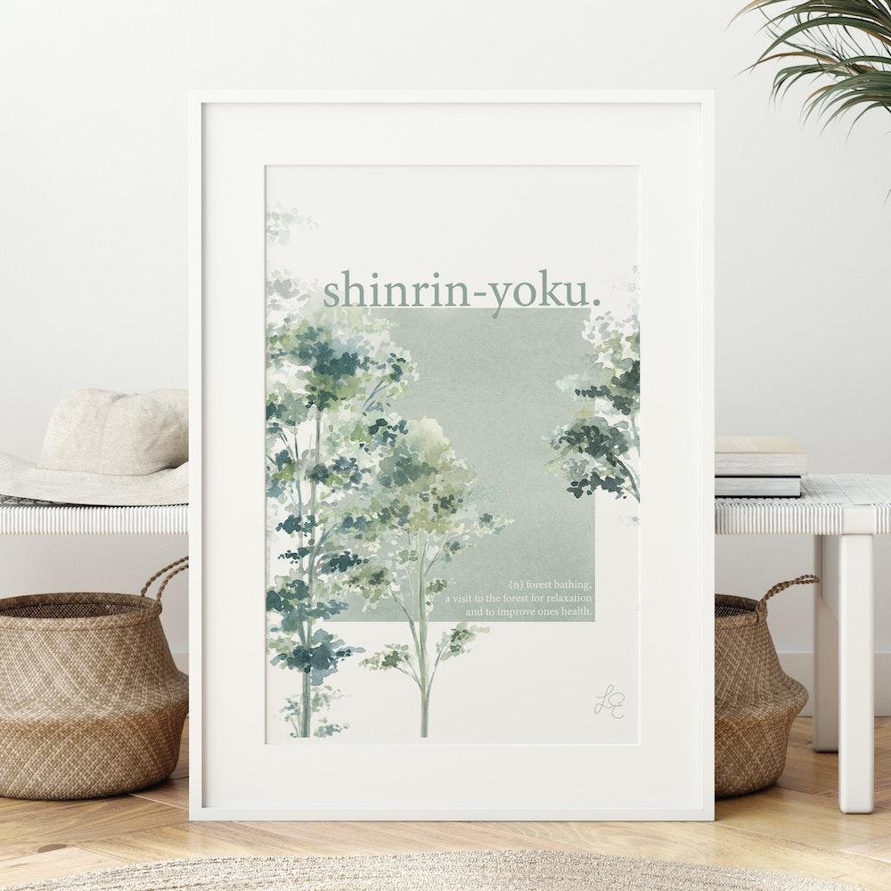 Laura Elizabeth Illustrations Shinrin-yoku Fine Art Print