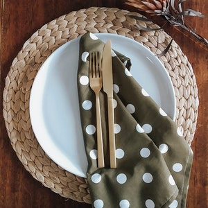 Olive Spot Napkin Set of 4