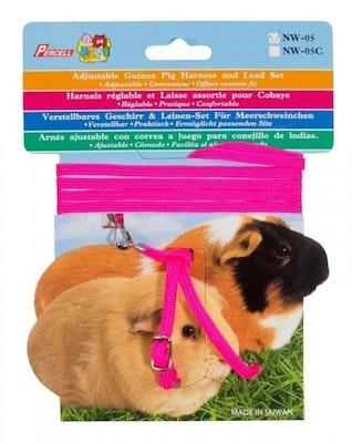 Percell Guinea Pig Harness & Lead Set Pink