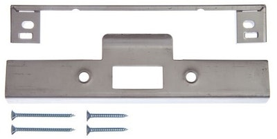Lockwood 3772 mortice lock rebate kit for timber doors with 32mm lip in stainless steel finish