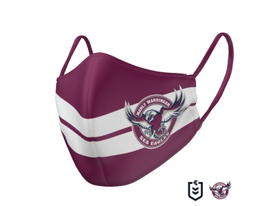 The Mask Life PRE ORDER - Manly Sea Eagles Face Mask