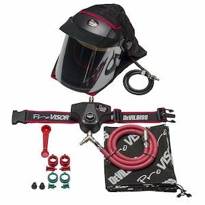 PROV 650 Pro Visor Air Fed Mask Full Set Up