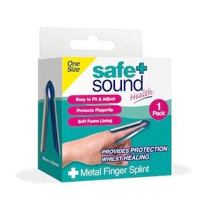 Safe + Sound Health Metal Finger Splint Immobilization Support Brace 1 Pack