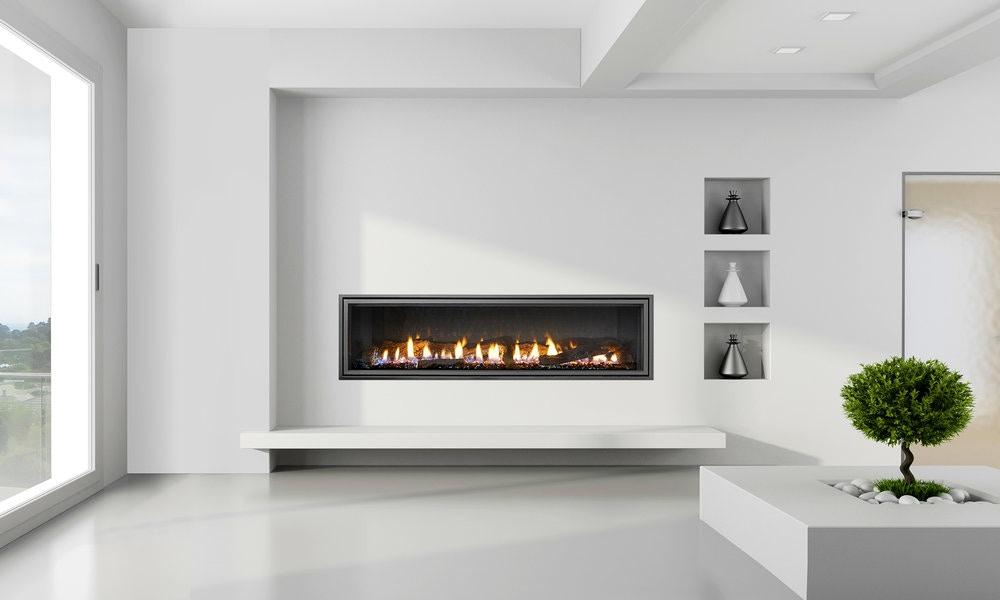 Mezzo Modern Fireplace Design Wide Gas Fire
