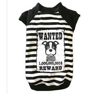 DoggyDolly SMALL DOG - WANTED White Doggy T-Shirt