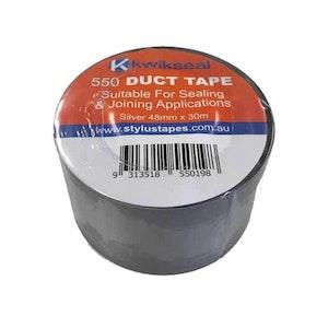 6 Rolls Silver Duct Tape 48Mmx30Mx130Um