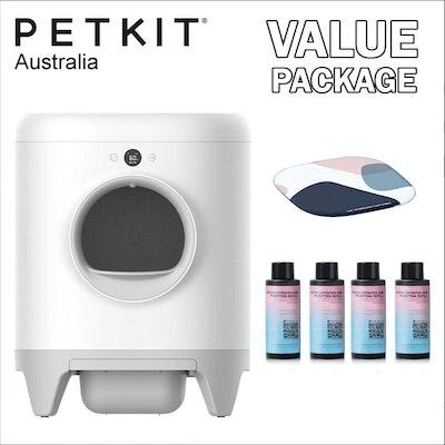 PETKIT PURA X Smart Automatic Self Cleaning Cat Litter Box Bundle
