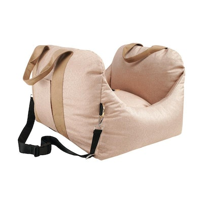 House of Pets Delight Plush Pet Booster Car Seat in Nude (preorder)
