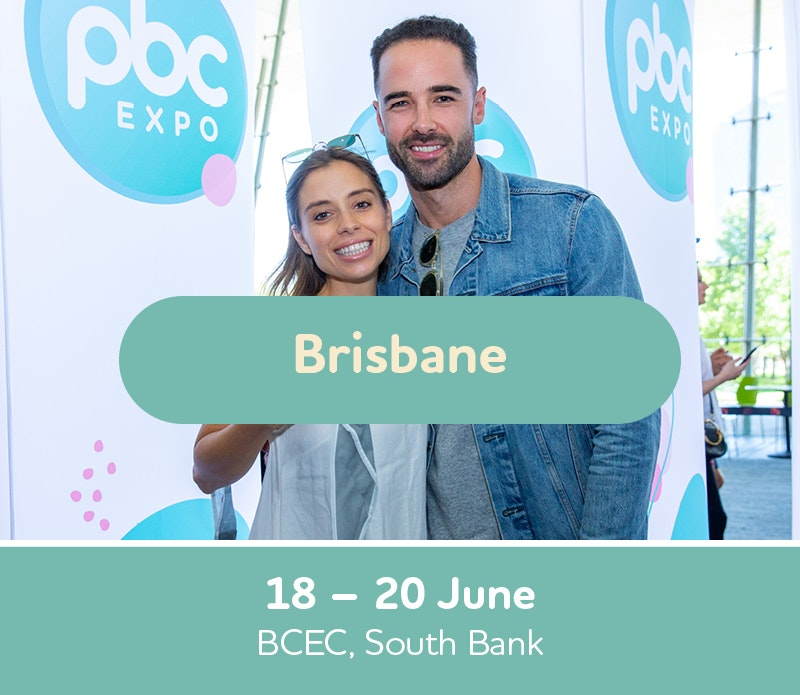 Text box with Brisbane Expo dates, 18th, 19th and 20th of June, Brisbane Convention and Exhibition Centre, South Bank