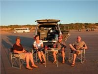 Sundowners, Ken and Maureen Hay and friends at Cable Beach Broome