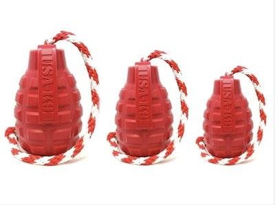 Soda Pup USA-K9 Grenade Reward Toy on Rope