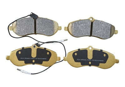 RDA FRONT DISC BRAKE PADS for Fiat Scudo Van 2.0TD 88Kw FWD 4/2008-3/2016 PAIR