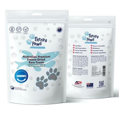 Freezy Paws Premium Freeze-Dried Sardine Raw Treats 80g