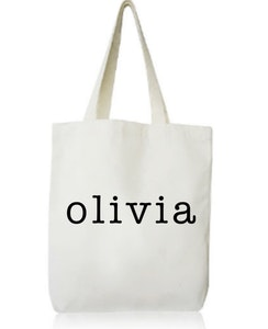 Personalised Library Bag - Holiday Font