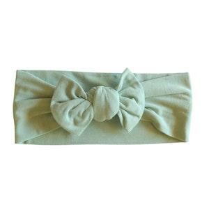 Marli & Me™ Bamboo Jersey Top Knot Headband | Balmy Sage