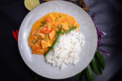 Zen Tea Lounge Spicy Thai Panang Curry