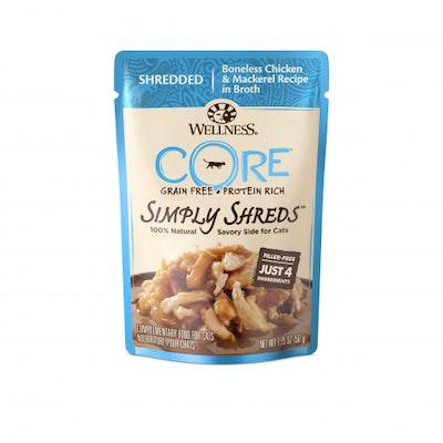 WELLNESS CORE Simply Shreds Chicken & Mackerel Wet Cat Food 50G