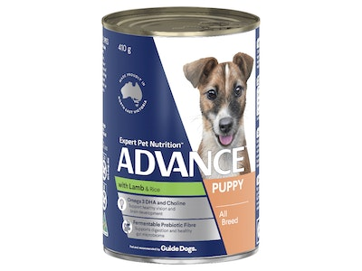 Advance Puppy Plus Growth Lamb & Rice 410G X 12 Cans