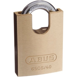 ABUS Brass Padlock 65CS/40 With Closed Shackle Keyed Alike
