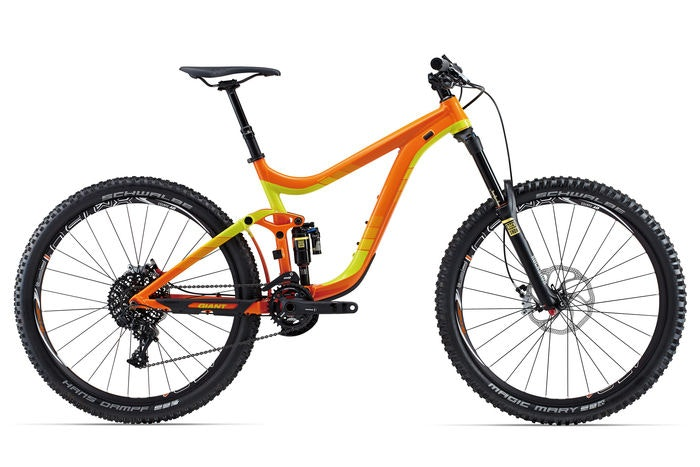 2 display 2015 Giant Reign 27.5 1 Orange