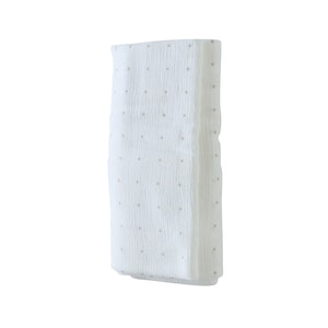Baby Wrap - Stretch Cotton Muslin: WHITE WITH GREY DOTS