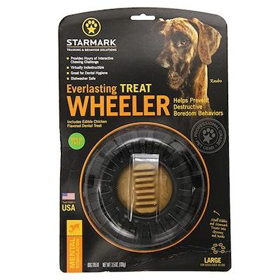 Starmark Everlasting Treat Wheeler Dog Chew Toy - 3 Sizes
