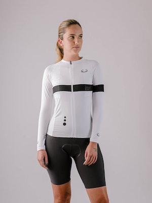 Taba Fashion Sportswear Camiseta Ciclismo Mujer Manga Larga Cuarzo