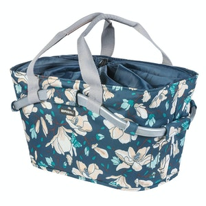 Basil Magnolia Carry All Rear Basket Teal