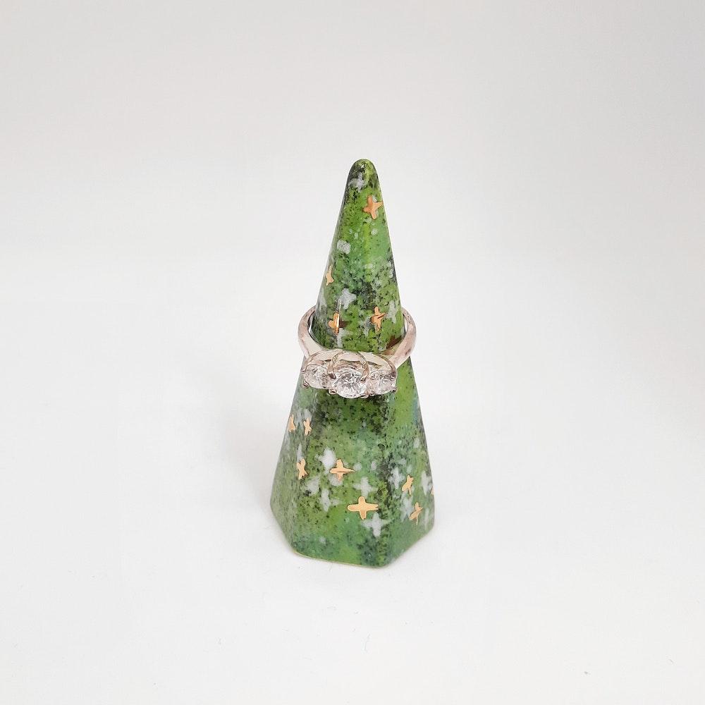 Lauren Michelle Designs  Galaxy Ring Holder (green)