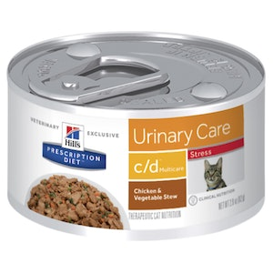 Hill's Prescription Diet c/d Multicare Stress Urinary Care Chicken & Vegetable Stew Canned Cat Food 24 x 82g