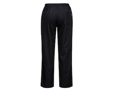 Portwest Women's Rachel Chef Trousers Pants Ladies Hospitality Workwear - Black