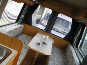 Ducato with rear dining  bed conversion
