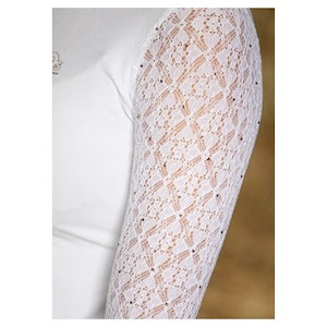 Harry's Horse Show Shirt - Crystal Lace White