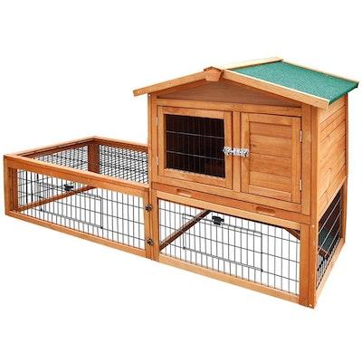 Deluxe Wooden Premium Rabbit/Guinea Pig Cage/Hutch - 155cm