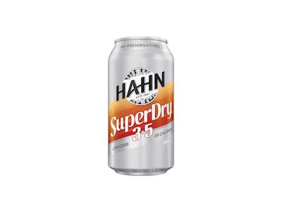 Hahn Super Dry 3.5% Can 375mL Case