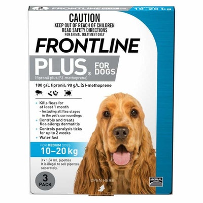 Frontline Plus Flea Treatment 10-20kg Dog