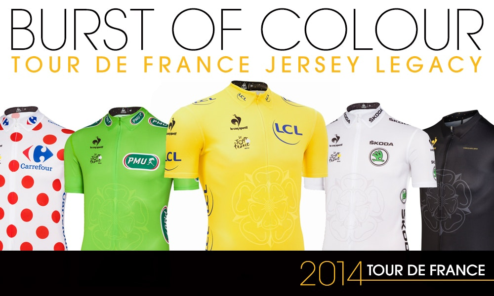 Burst Of Colour Tour De France Jersey Legacy