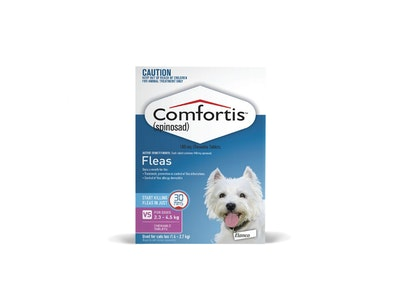 Comfortis Chewable Tablets Dog & Cat Very Small Pink