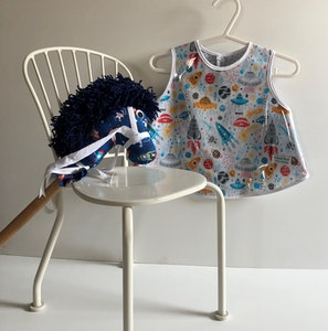 Toddler Smock & Hobby Horse - Space
