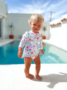 TicTasTogs Nappy-change Swimsuit | Ditsy Daisy
