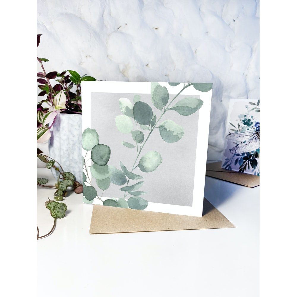 Laura Elizabeth Illustrations Eucalyptus Greetings Card