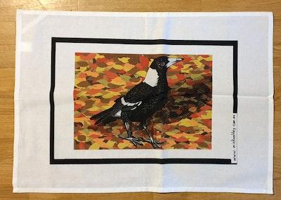 T-Towel - Magpie In Autumn